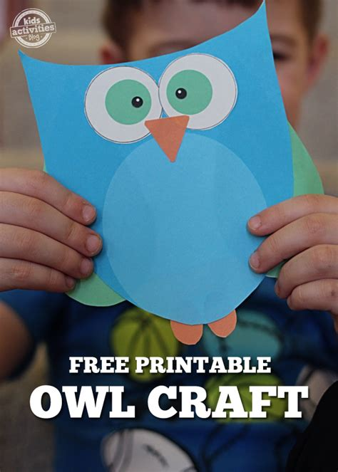 super cute printable owl craft choose pink  blue