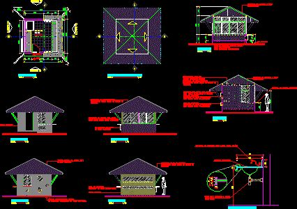kiosk details dwg full project  autocad designs cad