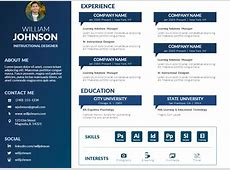 Free PowerPoint Visual Resume Template – Mike Taylor
