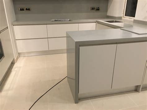 kitchen corian corian warm grey kitchen solid surface with waterfall