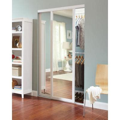 Home Depot Sliding Mirror Closet Doors by 60 In X 81 In Serenity Mirror White Wood Framed Interior