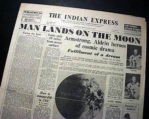 MAN WALKS ON THE MOON Neil Armstrong Buzz Aldrin APOLLO 11 ...
