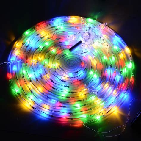 color changing led spiral tree lights outdoorindoor