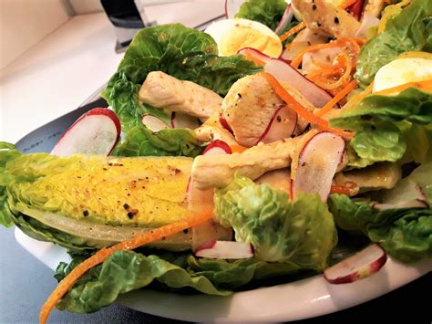 cuisiner les abats d agneau salade de sucrines au poulet et agrumes la recette