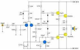 resultado de imagem para esquema eletrico de With mono power amplifier a1015 bd140 tip2955 circuit diagram