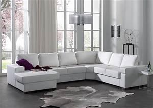 Canapé D Angle Cuir Blanc : canap d angle capitonn unique canap cuir blanc design ~ Melissatoandfro.com Idées de Décoration