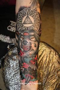 Tatouage Loup Celtique : tatouage loup qui grogne et triangle inkage ~ Farleysfitness.com Idées de Décoration