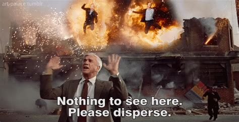 leslie nielsen explosion gif art palace someone needs to remake this gif but then
