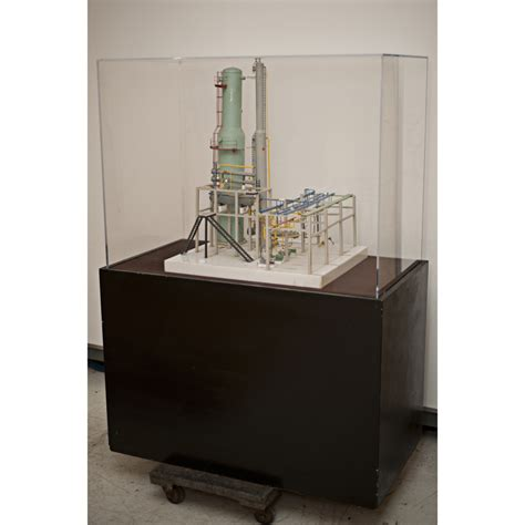 scale model display cabinet refinery scale model crude unit with custom display