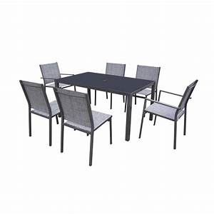 table table de jardin gris anthracite meilleures idees With awesome table de jardin aluminium leroy merlin 8 salon jardin isa resine tressee gris 1 banquette 2