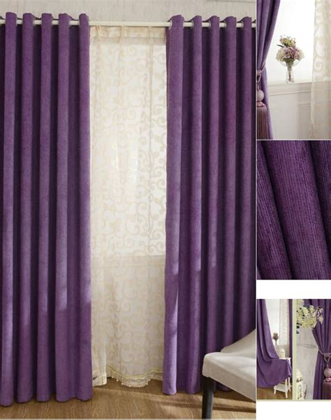 thick chenille fabric romantic purple blackout