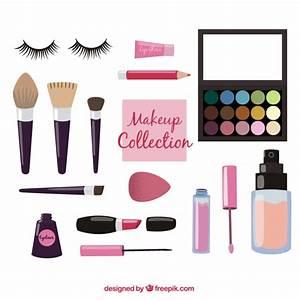Make-up utensils equipment Vector | Free Download