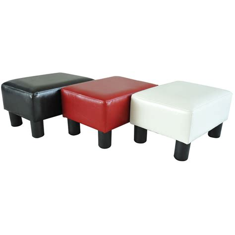 Foot Sofa by Modern Faux Leather Ottoman Footrest Stool Foot Rest Small