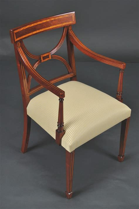 cross  dining room chairs banded satinwood  solid mahogany