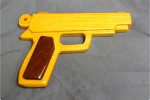 Wooden Toy Gun Pistol