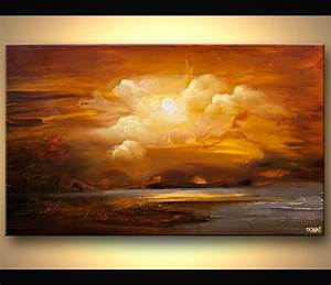 Painting - earthtone landscape modern abstract painting #6291