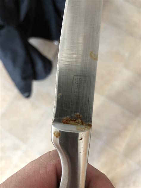 rust clean use suggestion sos wd wasn anyone didn knife pad cooking knifes had any know guys knives cheap kitchen