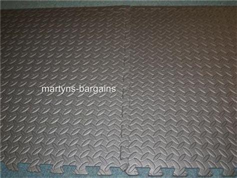 new interlocking anti fatigue foam flooring floor tiles ebay