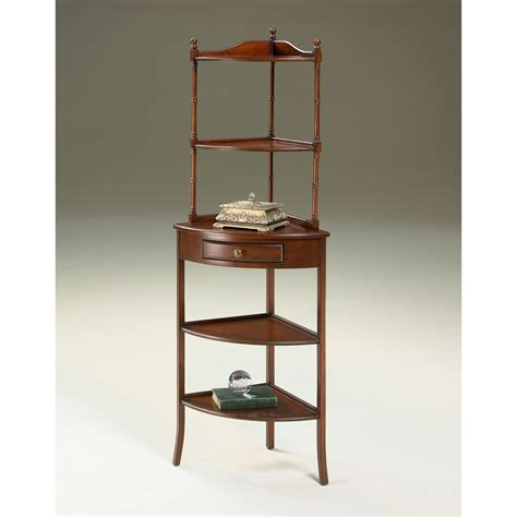 Corner Etageres by Butler Plantation Cherry 1 Drawer Corner Etagere At Hayneedle