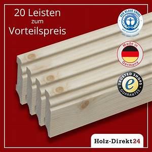 Holz 24 Direkt : sockelleiste fu leisten hamburger profil fichte 20st 48m vorteilspack 2 08 ~ Watch28wear.com Haus und Dekorationen