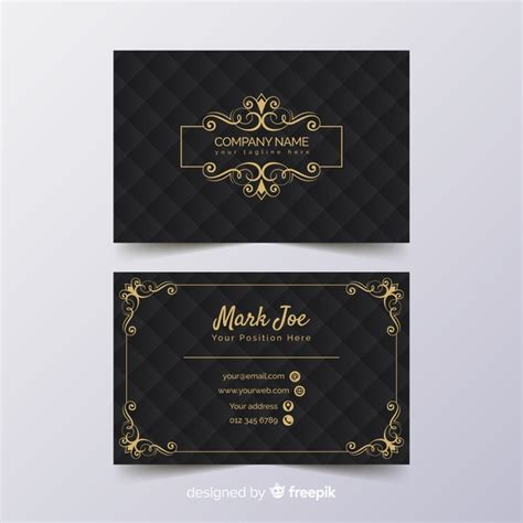 business card template ready to print luxury business card template vector free