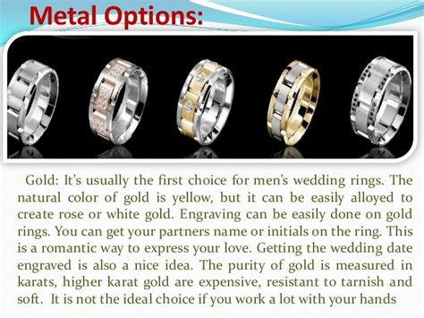 s wedding ring metal options