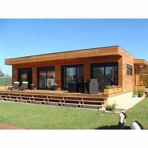 Chalet Bois Toit Plat : maison toit plat en bois galaxy 80 m au prix de 104 000 cl s en mains d co en 2019 pinterest ~ Melissatoandfro.com Idées de Décoration