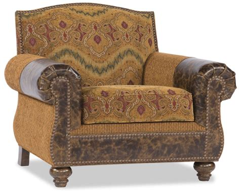 western style leather pattern chair