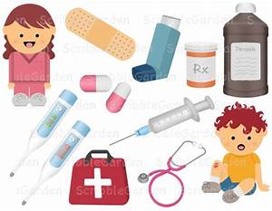 Nurse First Aid Digital ClipArt by ScribbleGarden on Etsy