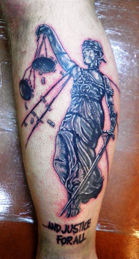 justice tattoo images designs