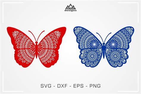Download now the free icon pack 'butterflies'. Cute Butterfly Mandala Svg Design By AgsDesign ...