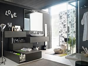 element de salle de bains composable au design original With meuble salle de bain modulable