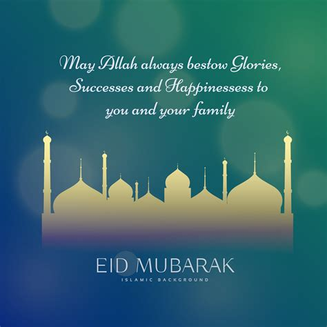 Eid Wishes Picture by Muslim Eid Festival Wishes Greeting Card Design