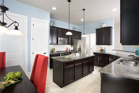 light blue and white kitchen gehan homes kitchen light blue walls accents 8986