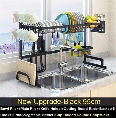 stainless steel drain rack katejewelry kitchensideas   ide dapur lemari dapur