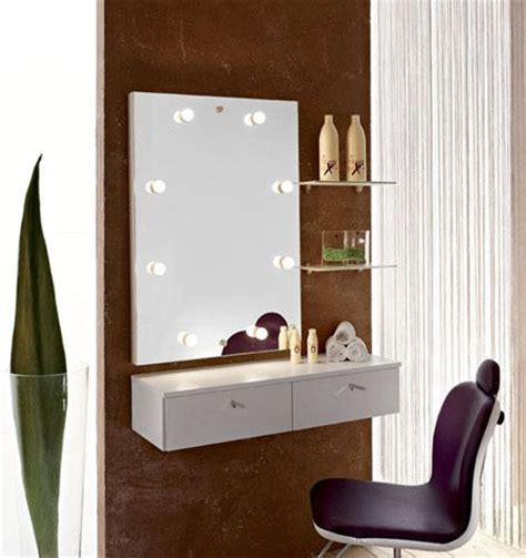wall mounted makeup vanity wall mounted small dressing table with mirror lights