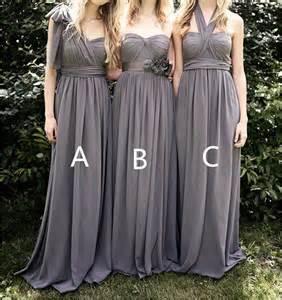 grey chiffon bridesmaid dress grey bridesmaid dresses chiffon bridesmaid dress by dressblee 109 00