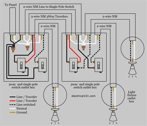Multiple Switch Wiring Way Single Pole Electrical