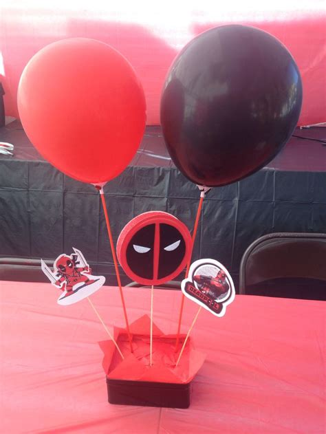 deadpool birthday center pieces deadpool birthday party center pieces pinterest los