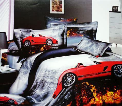dekbedovertrek raceauto 3d race cars car cotton bedding set queen size bedspread