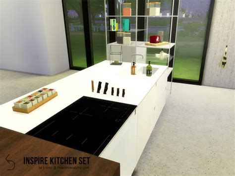 sims resource inspire kitchen set   omu sims