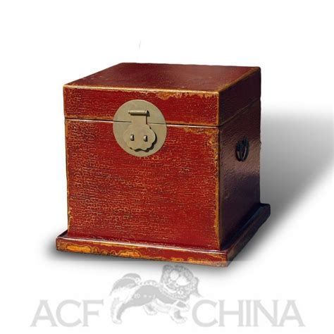 Chinese style wooden trunks with round hardware   ACF China