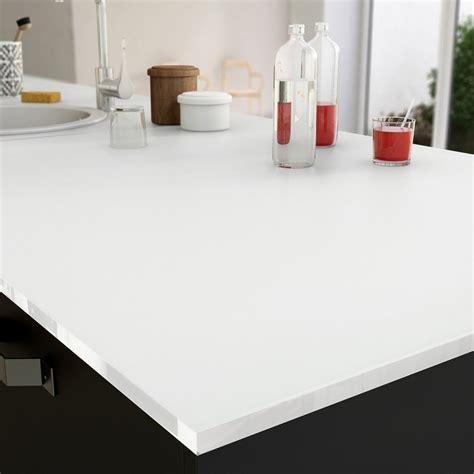 plan de travail cuisine blanc laqué plan de travail sur mesure verre laqué blanc ep 15 mm leroy merlin