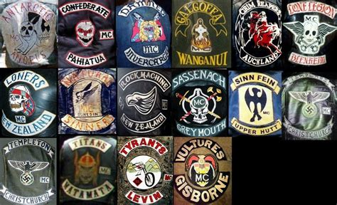 nz clubs biker colors pinterest motorcycle clubs