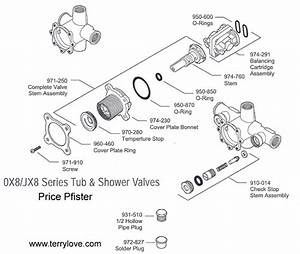 Pfister Avalon Shower  Tub Kit And 0x8-310a Valve