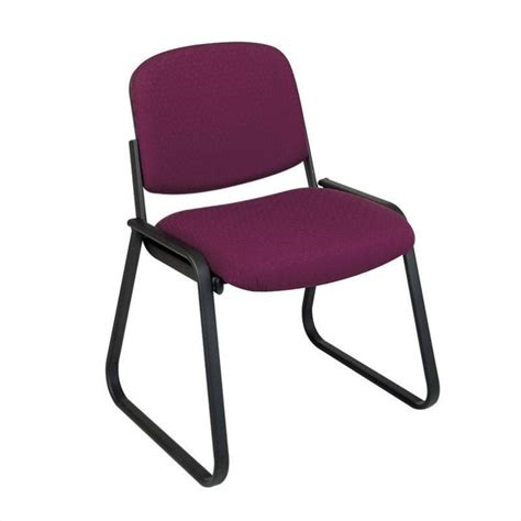 deluxe sled base armless guest chair in cabernet v4420 74