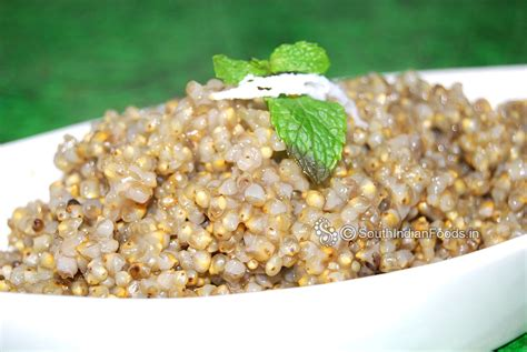 millet cuisine kambu sadam pearl millet rice bajra rice how to cook traditional tamil nadu style
