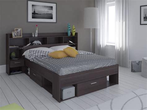 bout canapé lit tête lit kylian rangements 140x190 200 3 coloris