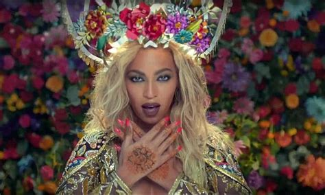 beyonce channels bollywood beauty  coldplays hymn