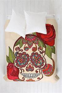 Valentina Ramos For DENY Sugar Skull Duvet Cover - Urban ...